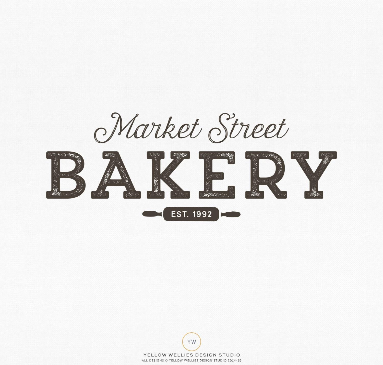 Premade Logo Design Bakery Logo Rolling Pin Logo Pastry