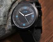 Mens leather Watch,  Minimalist Watch, Sale, For Him, Wedding Gift, Valentines Gift, Unisex, GEQL-WL05