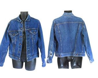 Vintage Men Levis Jacket Levis Denim Jacket Levis Big E Levis Jean Jacket Men Jean Jacket Distressed Denim Jacket Distressed Jean Jacket