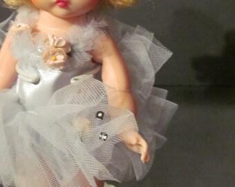 "1960s 8"" Bent Knee Madame Alexander Doll - Ballerina in Blue"