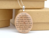 Personalized mom necklace new grandma mothers day from daughter wood necklace mothers day quote necklace graduation gift. Starlight Woods