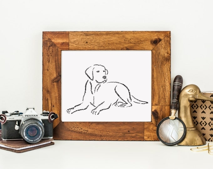 Man's Best Friend - A Limited Edition Print of a Hand-lettered Image of a Labrador