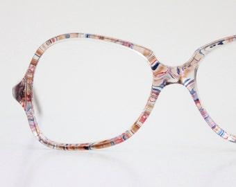 Vintage 80's Swirl Eyeglasses Sunglasses Frames