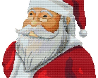 Cross Stitch Pattern Santa Claus Holiday Christmas Design INSTANT Download pdf