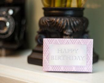 Digital DIY Gift Card Holder Printable Pink Diamonds