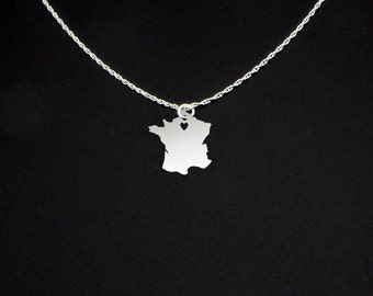 France Necklace - France Gift - France Jewelry