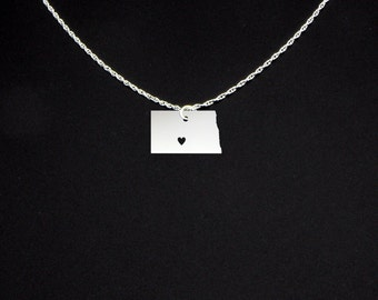 North Dakota Necklace - North Dakota Jewelry - North Dakota Gift