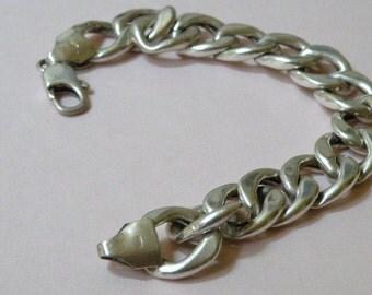 27.9 Grams Massive Sterling Silver Link Bracelet