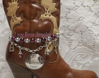 Dazzles In Pearls Boot Jewelry, Boot Bracelet, Boot Bling, Boot Jewelry, Cowgirl Boot Bling, Boot Band Bracelet