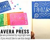 10 Banderitas - Centerpieces - Cake Topper - Wedding Flags