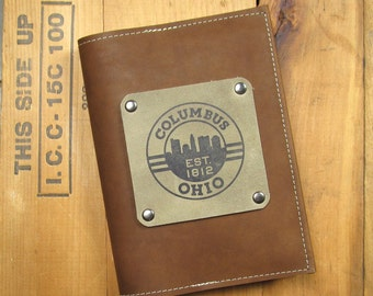 "5 ""X 7"" Refillable Leather Journal-Columbus"