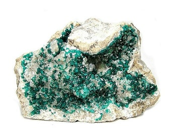 Dioptase  Emerald Green Crystals Specimen from Kazakhstan, Large Display Specimen, Connoisseur's choice for your rock and mineral collection