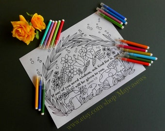 Printable Coloring Page. Printable Coloring Book Page. Instant Download PDF. Adult and Children Coloring page. James 1:5