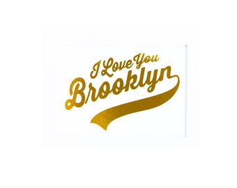 BROOKLYN Brooklyn Print Brooklyn Art Brooklyn Gold Brooklyn Gold Print Brooklyn Gold Art Brooklyn Decor Brooklyn Sign Brooklyn Poster NYC
