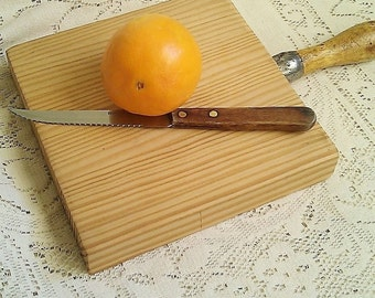 French Inspired Handmade Wooden Breadboard/Cutting Board, Salvaged Wood