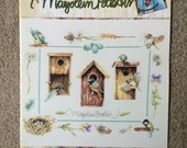 No Vacancy Bird House Pattern by Marjolein Bastin, Birdhouses and Wildflowers Counted Cross Stitch Pattern