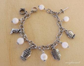 Put on the Full Armor of God, Christian Jewelry, Ephesian 6 Prayer, Charm Bracelet, Religious Jewelry, Christian Scripture Bracelet for Her
