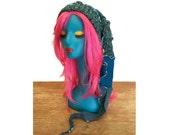 Teal Winter Hat, Snowboard Hat, Ski Hat, Upcycled Clothing,  OOAK Toboggan, Elf Hat, Pixie Hat, Boho Hat, Hippie Hat, Gift for Her