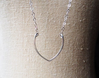 Lotus Necklace, Fertility Necklace, Fertility Symbol Necklace, Silver Layering Necklace, Surrogate Gift, Yoga Necklace, Rebirth