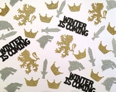 Game Of Thrones Glitter Confetti -- GOT Watching Party /  Birthday Party / Bachelorette Party /  Wedding Decorations