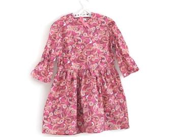 Girls Dress, Girls Vintage Dress, Girls Summer Dress, Vintage Girls Dress, Girls Floral Dress,