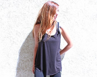 Urbat Weshion, Black Tunic, Sexy Tunic Top, Sheer Back, Over Size Top, Futuristic Clothes