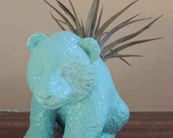 READY TO SHIP Glossy Turquoise Panda Planter
