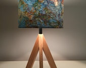 Private listing for Barbara - 2 x lamps - Map lampshade + Uber industrial pink & blue