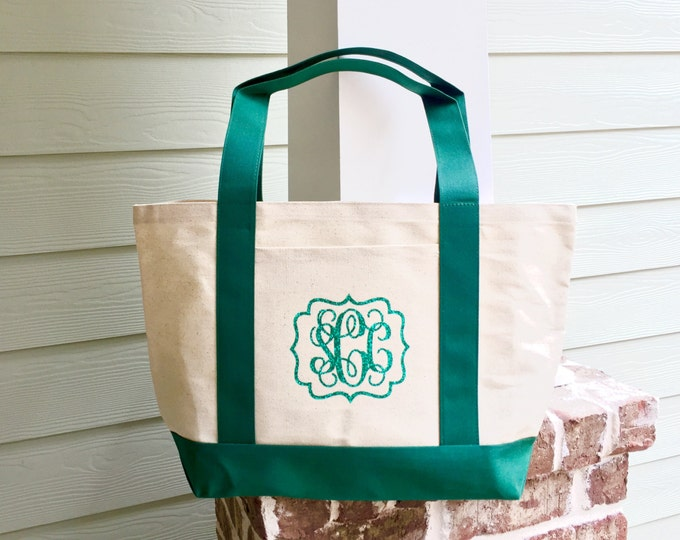Monogrammed Canvas Tote Bag, Monogram tote bag,  Bridesmaid gift, Monogrammed Gifts, Personalized Corporate Gifts, Bulk Discounts