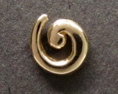 SALE! 14k gold spiral single stud earring #2 recycled solid gold made in USA