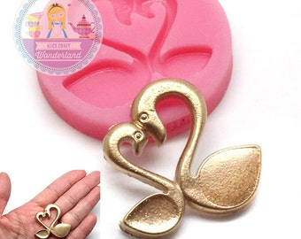 Loving Swan Couple Silicone Mold 780m Flexible Mold Push  Craft Mold Cookie Deco Cupcake  Mold DIY Deco Food Safe BEST QUALITY
