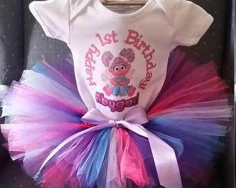 Abby Cadabby shirt and tutu skirt