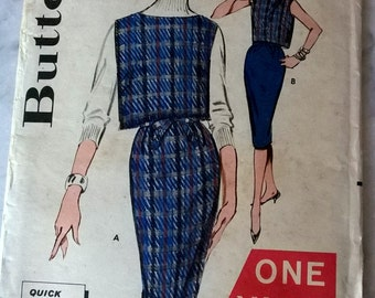 Unused Butterick Pattern 9441 - One Yard Line Skrt and Top -Young Junior & Teen Size 12, Bust 32 FREE SHIP