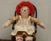 Raggedy Ann doll 9 inch handmade