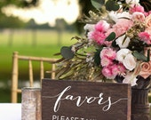 Wedding Favors Sign -  Favors Please Take One - Party Favors Sign - Love is Sweet Take a Treat