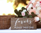 Favors Sign for Wedding-  Favors Please Take One - Party Favors Sign - Love is Sweet Take a Treat
