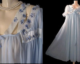 Vintage Evette Peignoir Amp Nightgown Set Pleated By