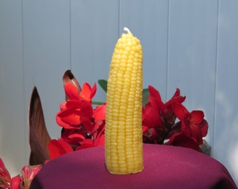 Beeswax Corn Candle