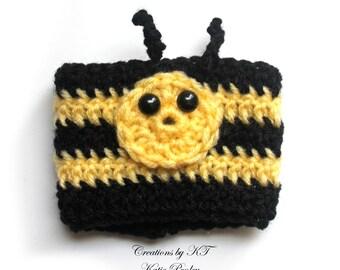 Bee Cup Cozy Crochet Coffee Reuse