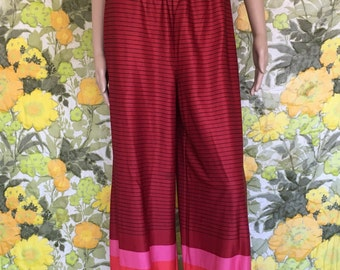 I Dream Of Genie - balloon pants - pink lounge pants - cinched ankle puff pant - red genie pants - boho chic hippie pants - pink harem pants