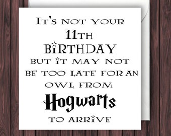 Hogwarts Letter. Harry Potter Birthday Card. Geek Blank Card. Funny Greetings Card.