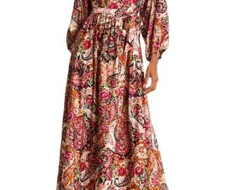 Vintage 1970s BoHo Paisley Dress Size: XS/S/M