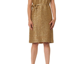 Vintage 1960s Solid Gold Mod Dress Size: XS/S