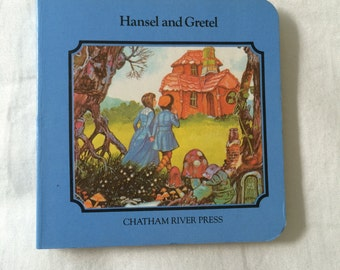 Hansel and Gretel Board Book, Classic Fairy Tale for Baby, Toddler or Preschooler, Vintage Nursery Decor