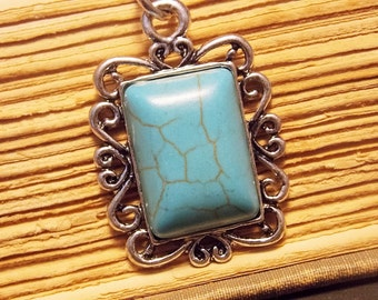 Turquoise and Silver Pendant