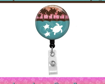 Journey Sea Honu (Turtle) Family Beach Retractable Id Badge Reel. Custom Requests Welcome. See Announcements for Discount Coupon.