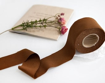 Knit bias tape etsy 35 cm cotton knit bias tape in light brown 10 yards by the roll mozeypictures Gallery