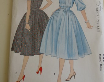 Vintage McCall Pattern 3004 Misses Dress Size 14  Bust 32 Inches