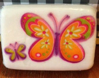 Butterfly Soap with Decoupage