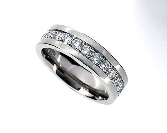105ct diamond wedding band made from white gold man diamond ring wide wedding - Diamond Wedding Rings For Men